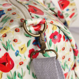 Saco floral do curso dos testes padrões de Procket do Zipper impermeável do PVC (99197)