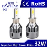 Auto farol do diodo emissor de luz do carro do farol 2800lm do diodo emissor de luz das peças sobresselentes H3