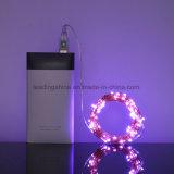 16.5 FT USB 50 LEDのピンクの銀製ワイヤーXmasのための妖精ストリングライト