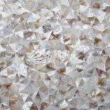 Frischwassershell-Mutterperlen-unregelmäßige Dreieck-Naturbrown-Farben-Mosaik-Fliese