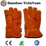 Gants de gestionnaires de l'hiver de cuir fendu de vache avec la garniture de Thinsulate