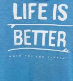As palavras do menino da fábrica imprimiram a camisa de T com luva curta
