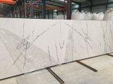 Le blanc en pierre artificiel de Calacatta veine des ventes en gros de brames de quartz