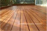 Decking de madera al aire libre amarillo claro del suelo de 20X90m m Merbau