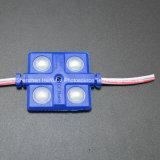 4SMD5630 el módulo 36*36 de la inyección del color verde LED impermeabiliza el módulo del LED