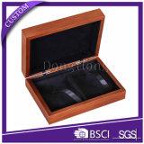 Caja de cuero de lujo del estilo de la alta calidad de Brown para la joyería