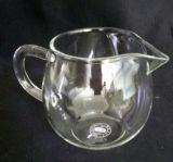 Taza de té de cristal transparente hecha a mano modificada para requisitos particulares