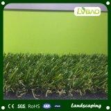 Grama artificial da qualidade de Hiqh da cor da altura quatro da paisagem 40mm