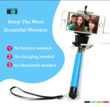 Супер миниая связанная проволокой ручка Monopod Selfie на iPhone 4 4s 5 5c 5s на iPhone 6 6 положительных величин для ручек галактики S3 S4 S5 S6 Selfie Samsung