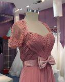 Hüllen-/Spalte-Umhüllungen-Hochzeits-Abend-Kleid mit Bogen