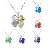 Jewellery способа Neckalce цепи ожерелья клевера листьев Mens 4 сплава способа кристаллический привесной