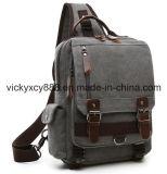Sac simple de poitrine de sac à dos de cartable d'iPad d'épaule de toile durable (CY3657)