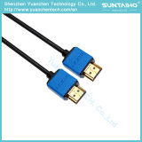 De vlakke Kabel van de Hoge snelheid HDMI met Dubbel pvc Shell van de Kleur