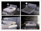 現代シュントーのホーム寝室の家具のニースの革柔らかいダブル・ベッド