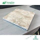 Декоративная естественная каменная алюминиевая панель сандвича сота с мраморный зерном