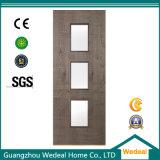 Portelli di legno del MDF dell'impiallacciatura del compensato a livello moderno con i vetri