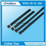 O bloquea la atadura de cables cubierta PVC del acero inoxidable