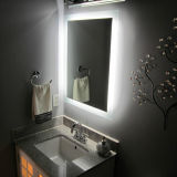 Hotel Vanity Frameless Beveled LED Illuminated Bathroom Lighted Mirrors