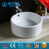 Bacino di ceramica del quadrato della mano della lavata di vanità della stanza da bagno