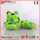 Os animais macios do luxuoso da alta qualidade encheram o brinquedo Neckpillow da râ