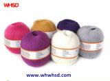 Filato di nylon del filato di lana del cachemire delle PPTT 5% della seta 25% di 33% 37% per lavorare a maglia