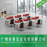 Mobília de madeira reta popular do escritório de projeto com pé do aço inoxidável
