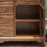 Sideboard di legno di stile americano per la mobilia As807 del Ministero degli Interni