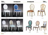 Hotel-nobles Aluminiumhochzeits-Bankett, das Stühle speist
