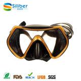 Профессиональная противотуманная Черн-Золотистая маска подныривания силикона