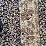 Veludo de seda impresso no teste padrão de flor