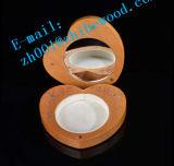 木のハート形の装飾的なミラー
