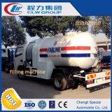 Caminhão-tanque de gás com gás de bombeamento de 5000 litros com máquina dispensadora
