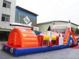 Curso de obstáculo inflable del juego del deporte de Rocket para la venta