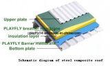 Membrana impermeable del respiradero compuesto del alto polímero de Playfly de cuatro colores (F-160)