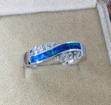925 anéis Opal de prata da jóia