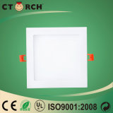 Luz de painel quadrada 6W do diodo emissor de luz de Ctorch da alta qualidade com Ce