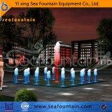 Fontaine contemporaine d'acier inoxydable de contrôle de programme de construction urbaine