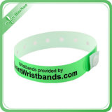 NFC impermeabilizan el Wristband material del PVC con el clip plástico
