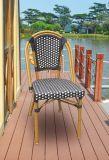 平らな柳細工アルミニウム椅子(7361)を食事する屋外のテラスの余暇の家具