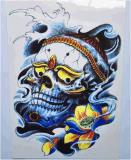 Etiqueta engomada temporal del tatuaje del arte de la etiqueta engomada del tatuaje del dragón de moda del cráneo