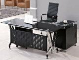 유리제 탁상용 금속 구조 현대 사무실 책상 (HX-GL015)