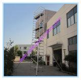 安全なセリウムは装飾のために傾斜したアルミニウム足場を渡した