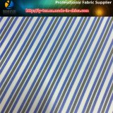 Guarnición del juego de los hombres en la tela tejida poliester de la raya de la tela cruzada de la materia textil (S42.46)