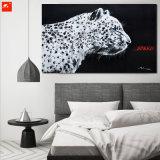 新しい現代涼しい北欧の白黒ヒョウの油絵