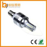 Lumière en aluminium de bougie de l'éclairage SMD de l'intérieur DEL pour la base de la lampe E27 E14 de lustre