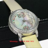 Het grote Horloge van het Kwarts van Nice met de Echte Riem van het Leer voor Vrouwen Fs552