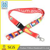 El diseño especial barato cuerda de seguridad con el logotipo de la empresa como ID de Trabajo