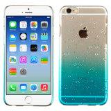 Gota de agua transparente del caso Teléfono Azul TPU para el iPhone-6