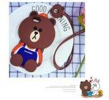 os desenhos animados 3D barram a caixa macia bonito do silicone do urso de Brown para o iPhone 7 7plus 6 6plus J5 J7 (XSDW-091)