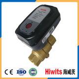 """Hiwits robinet à tournant sphérique 4 motorisé électrique bi-directionnel du laiton 1/2 """" - """""""
